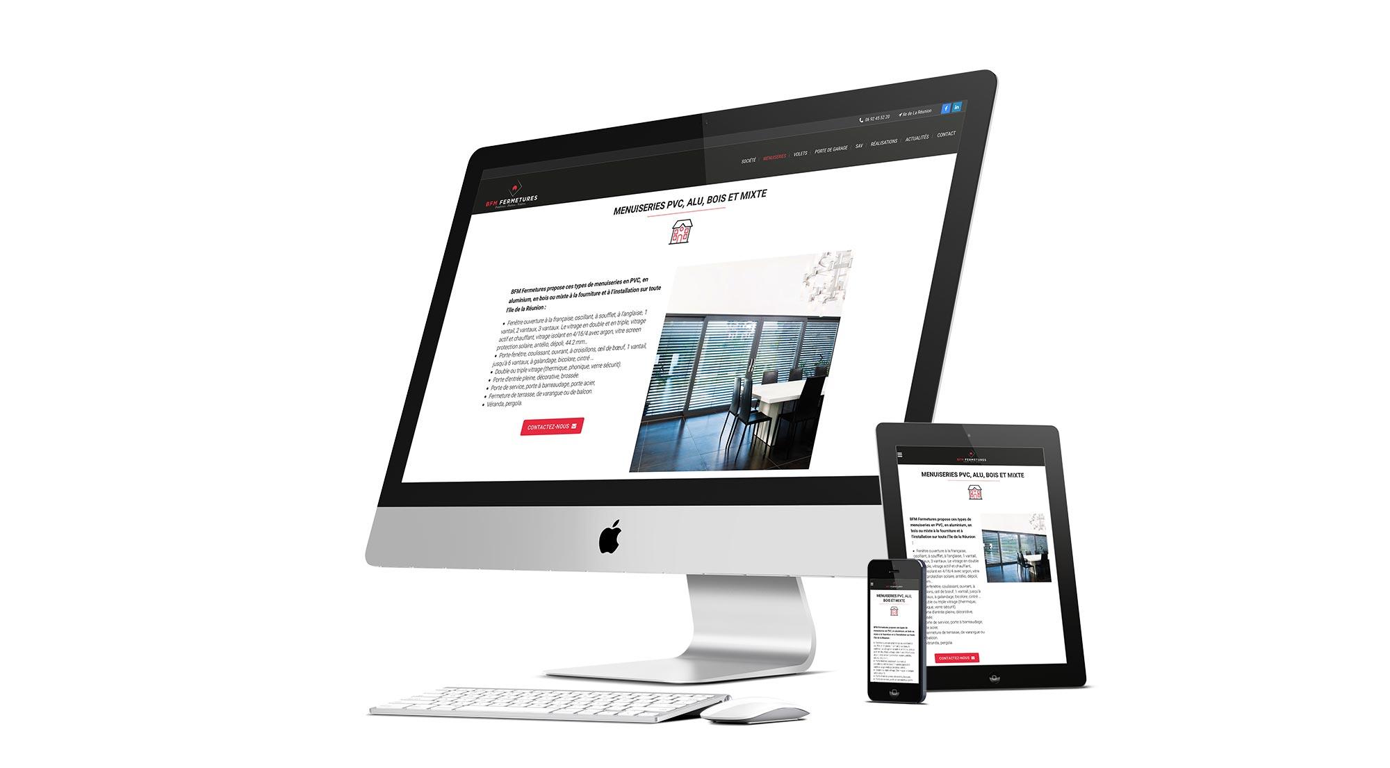 Nouveau site internet BFM Fermetures à La Réunion par l'agence Offensive